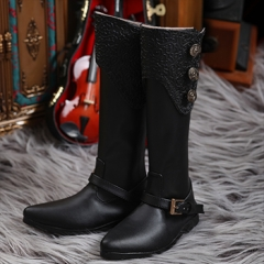 70+ MALE EURO BLACK LONG BOOTS