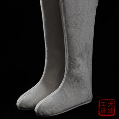 1/3 male and female Jacquard ancient white boots